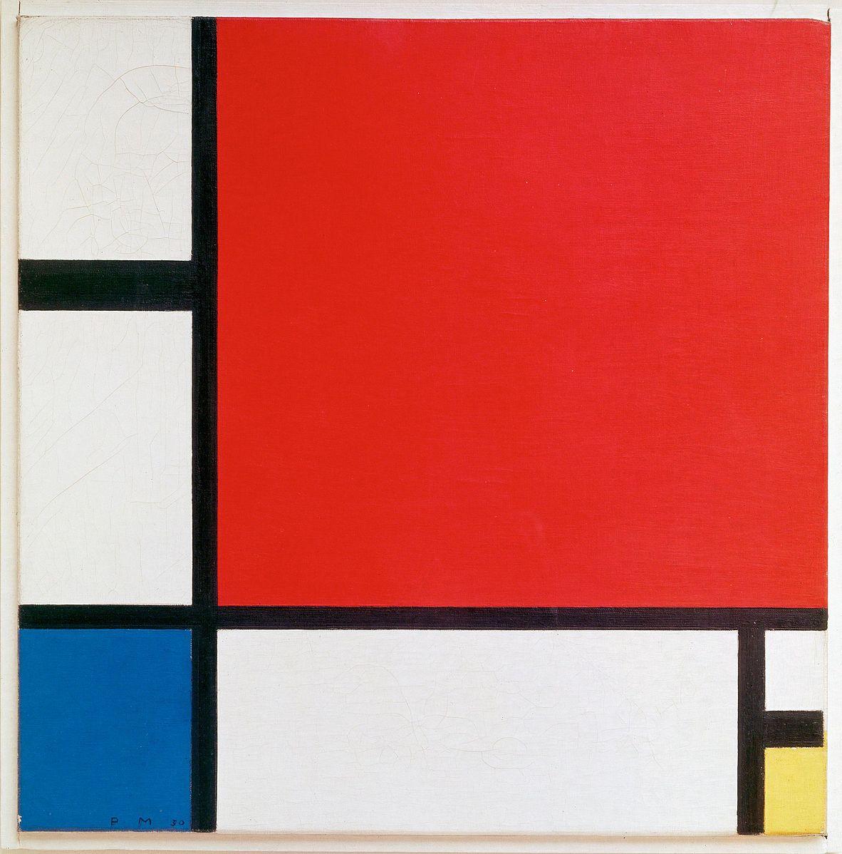 "Pit Mondrijan: ""Kompozicija II u crvenom, plavom,i žutom"""