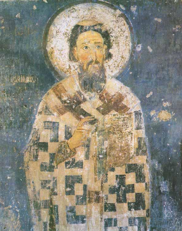 Freska Sv. Save u manastiru Mileševa